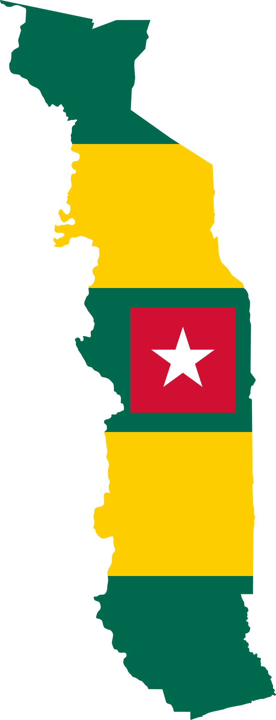 togo-flag-map